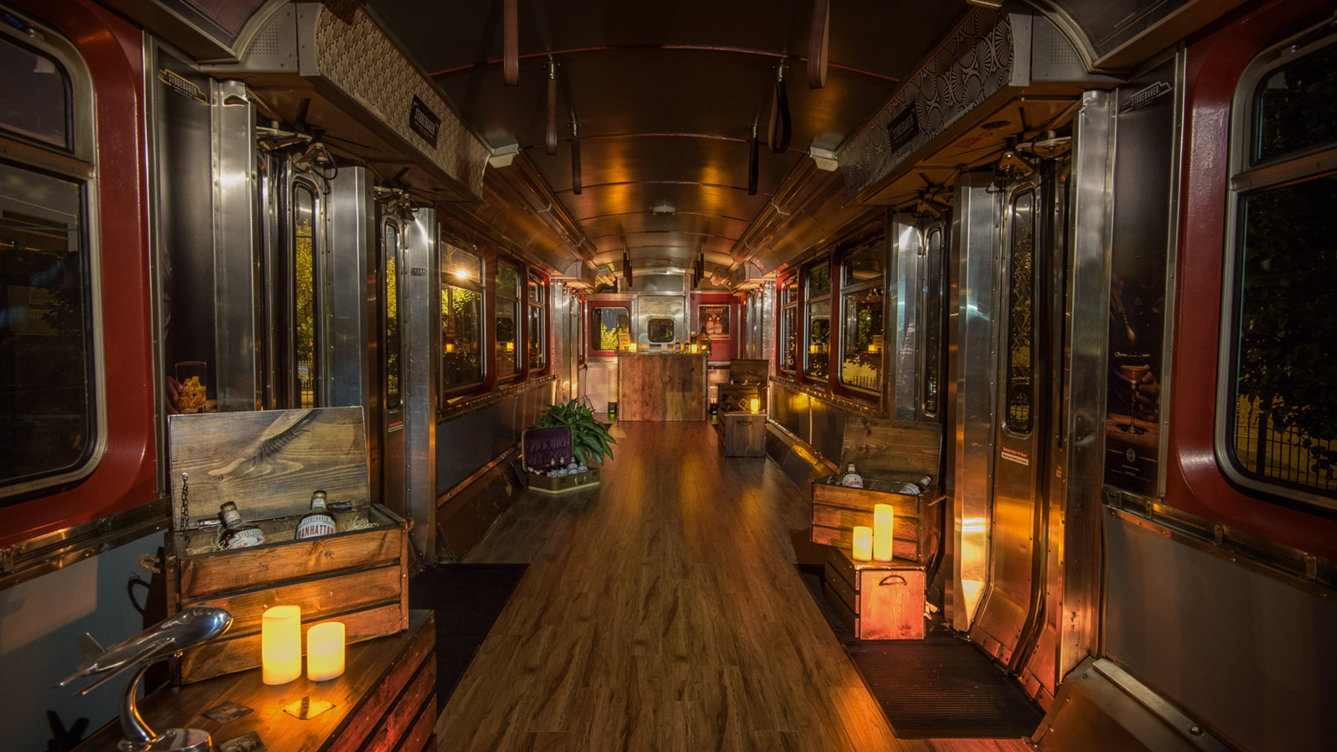 Studebaker Whisky Coctails Train Club Car Interior Design