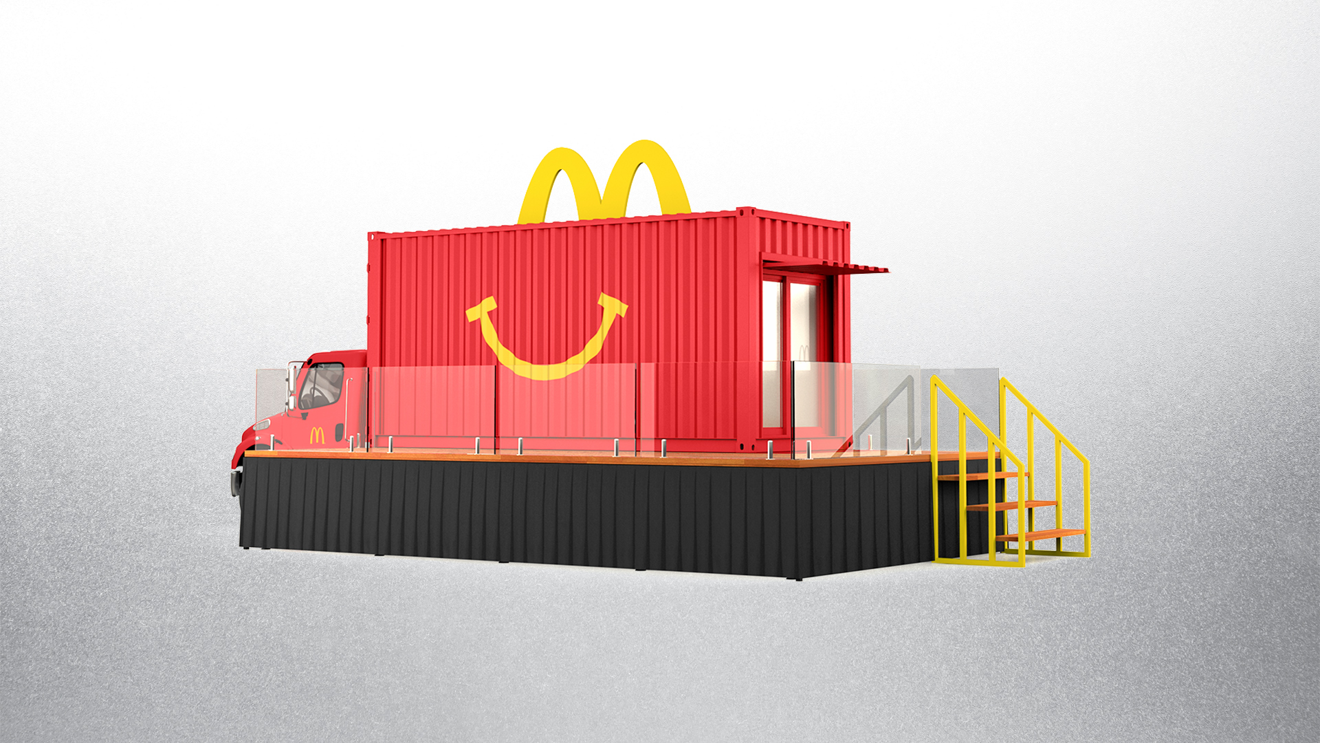 McDonald's Happy Meal Red 20' Shipping Container with Deck