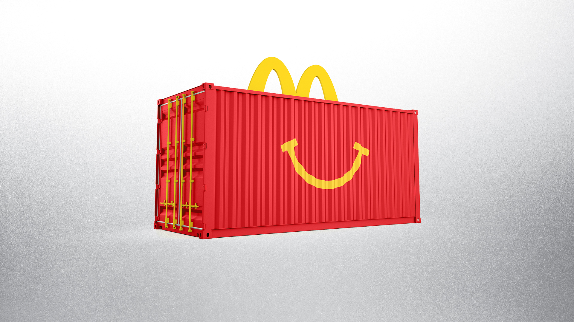 McDonald's Happy Meal Red 20' Shipping Container Experiential